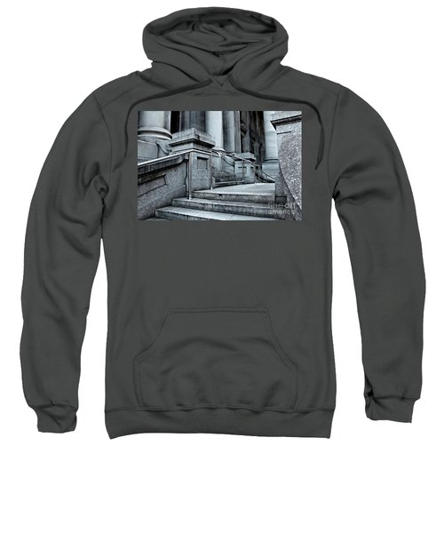 Sweatshirt featuring the photograph Chrome Balustrade by Stephen Mitchell