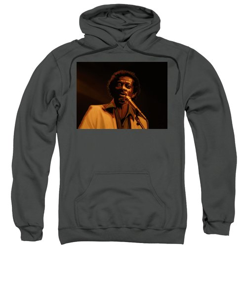 Chuck Berry Gold Sweatshirt by Paul Meijering