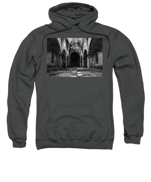 Church In Black And White Sweatshirt