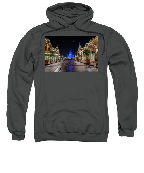 Cinderella Castle Glow Over Main Street Usa Sweatshirt