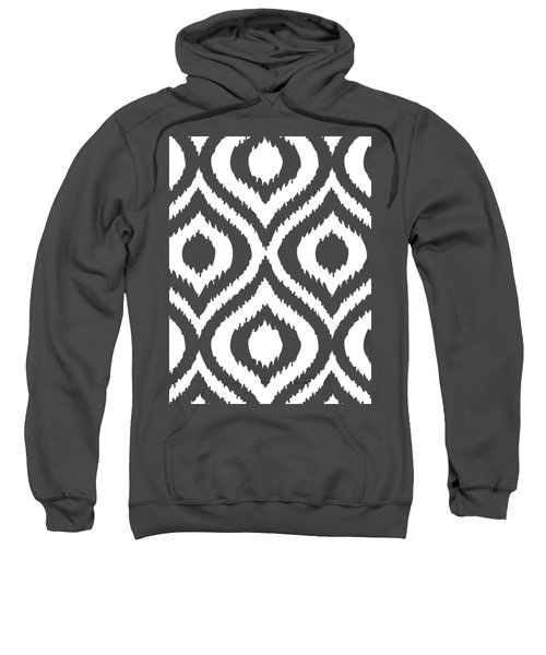 Circle And Oval Ikat In White T02-p0100 Sweatshirt