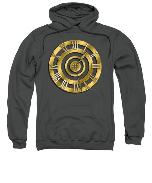 Circular Clock Design Sweatshirt