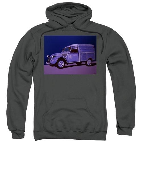 Citroen 2cv Azu 1957 Painting Sweatshirt