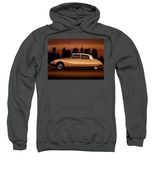 Citroen Ds 1955 Painting Sweatshirt