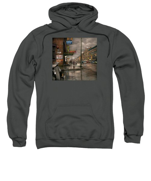 City - Amsterdam Ny -  Call 666 For Taxi 1941 Sweatshirt