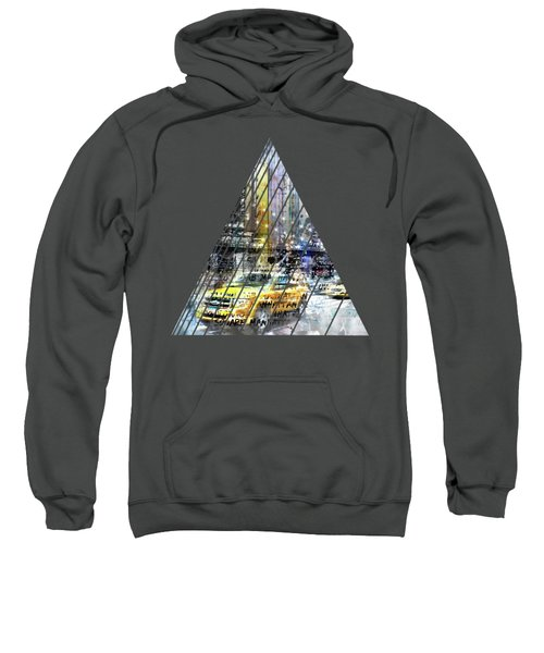 City-art Nyc Collage Sweatshirt by Melanie Viola