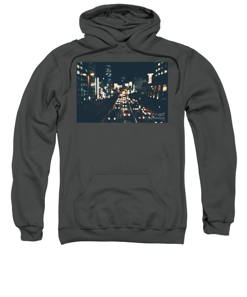 Sweatshirt featuring the photograph City Lights by MGL Meiklejohn Graphics Licensing
