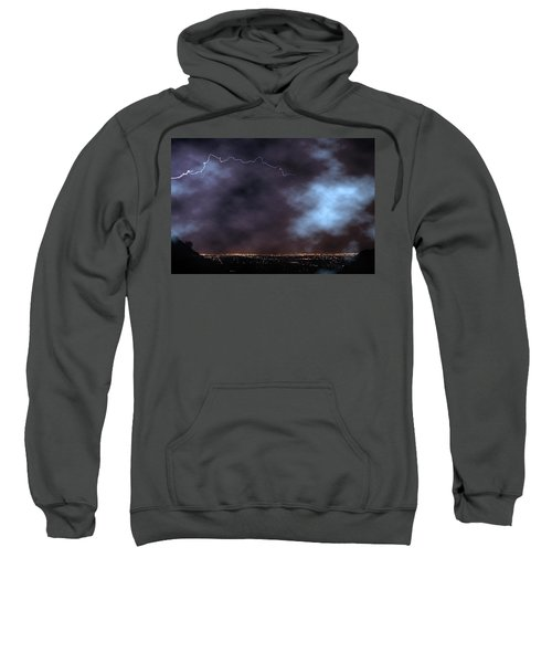 Sweatshirt featuring the photograph City Lights Night Strike by James BO Insogna