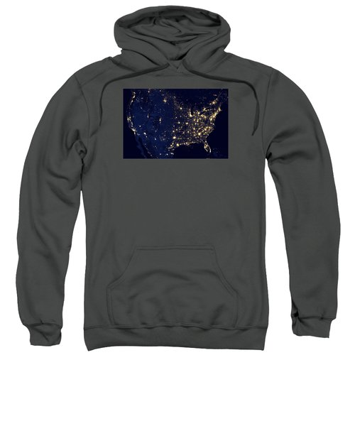 City Lights Of The United States Sweatshirt