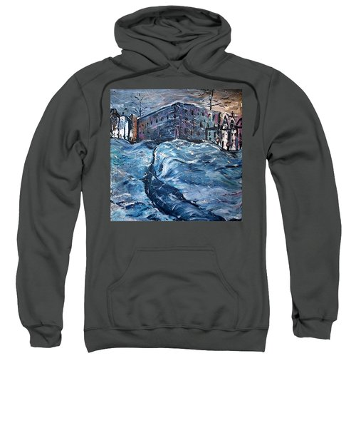 City Snow Storm Sweatshirt