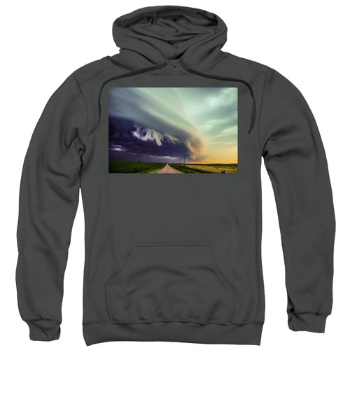 Classic Nebraska Shelf Cloud 024 Sweatshirt