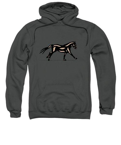 Clementine - Pop Art Horse - Black, Hazelnut, Emerald Sweatshirt