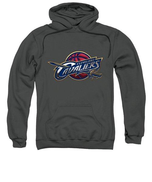 Cleveland Cavaliers - 3 D Badge Over Flag Sweatshirt