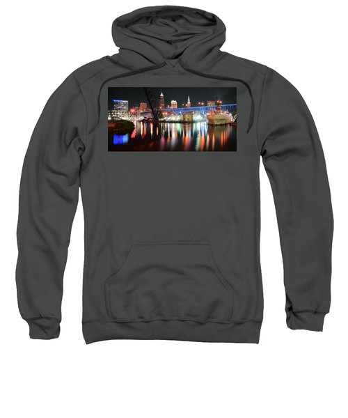 Cleveland Ohio In Black And Color Sweatshirt