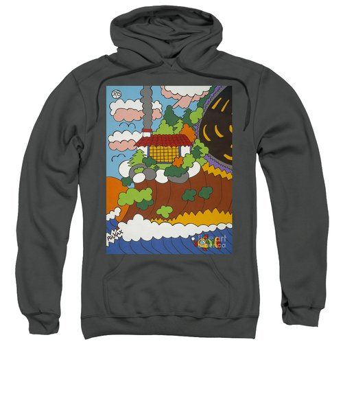 Cliff House Over Ocean Sweatshirt