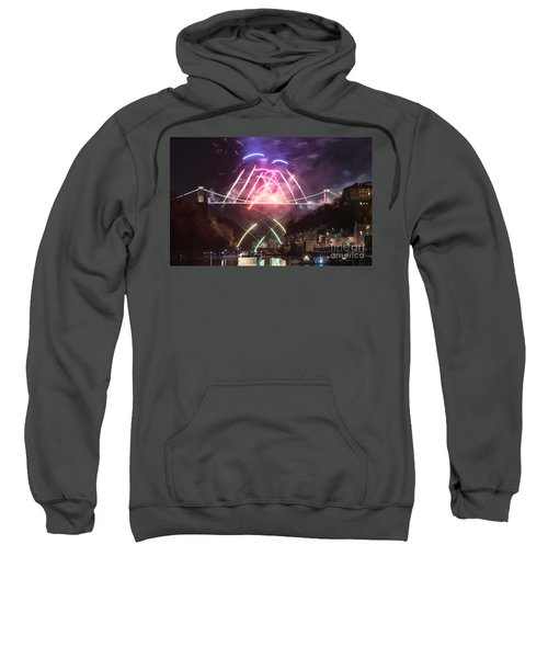 Clifton Suspension Bridge Fireworks Sweatshirt