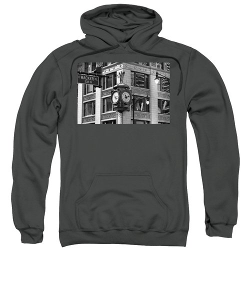 Clock On Jewelers Building - Chicago Sweatshirt