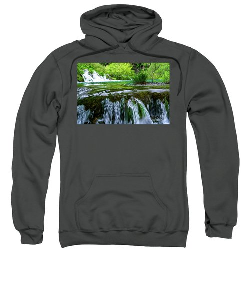 Close Up Waterfalls - Plitvice Lakes National Park, Croatia Sweatshirt