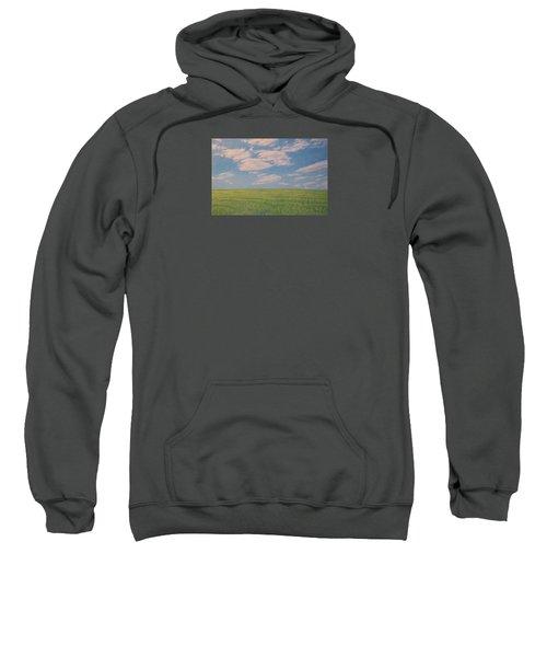 Clouds Over Green Field Sweatshirt