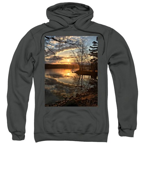 Clouds, Reflection And Sunset  Sweatshirt