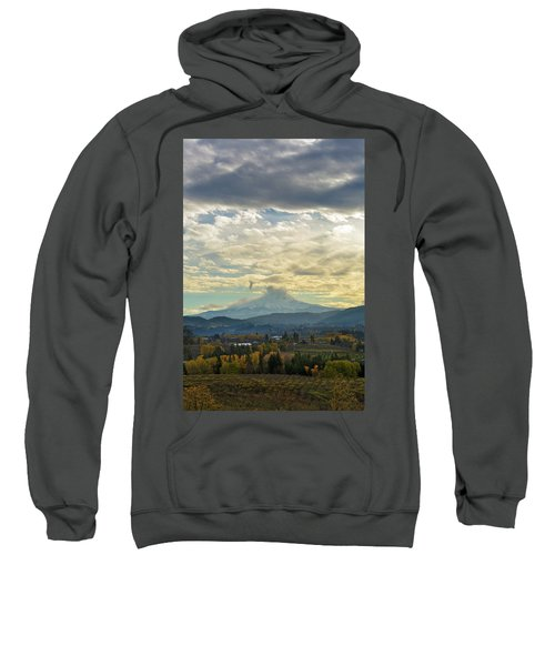 Cloudy Day Over Mount Hood At Hood River Oregon Sweatshirt
