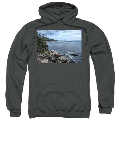 Coastal Landscape From Ocean Path Trail, Acadia National Park Sweatshirt