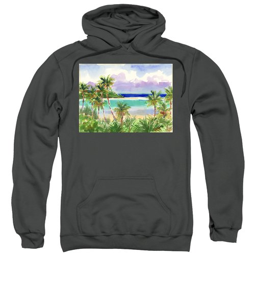 Coconut Palms And Lagoon, Aitutaki Sweatshirt