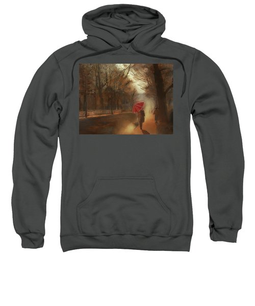 Cold Autumn Morning Painting Sweatshirt