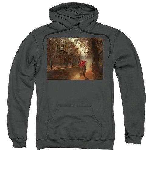 Cold Autumn Morning Painting Sweatshirt