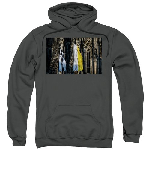Cologne Cathedral Flags Sweatshirt