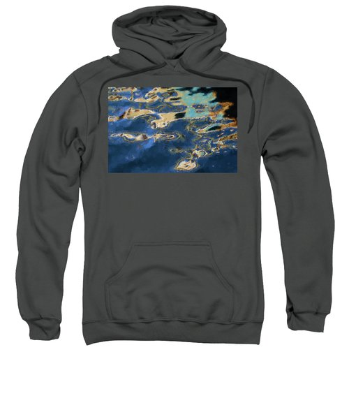 Color Abstraction Xxxvii - Painterly Sweatshirt