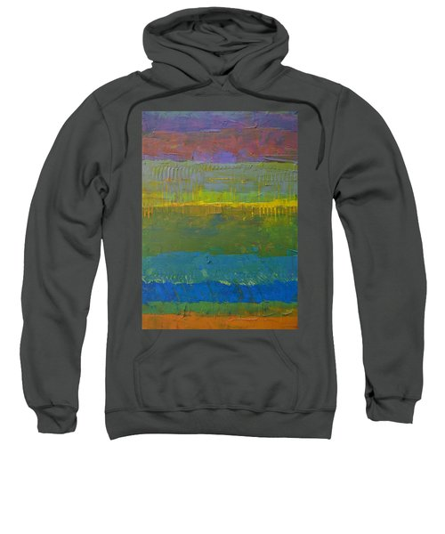 Sweatshirt featuring the painting Color Collage Five by Michelle Calkins