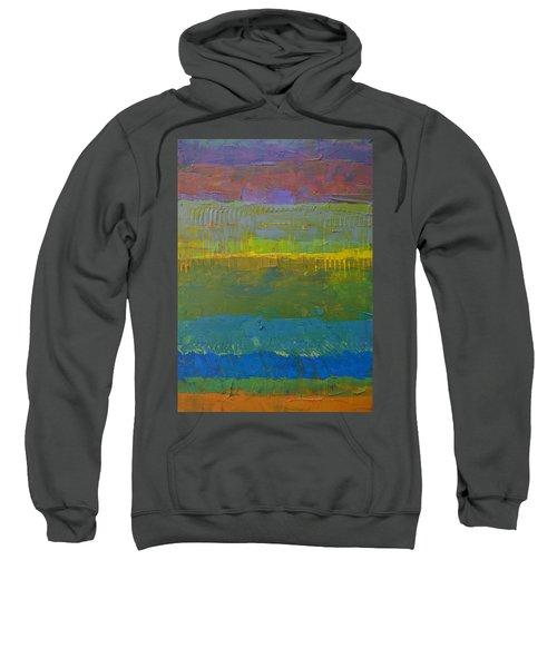Color Collage Five Sweatshirt by Michelle Calkins