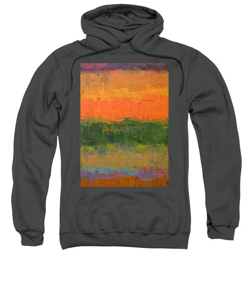 Sweatshirt featuring the painting Color Collage Four by Michelle Calkins