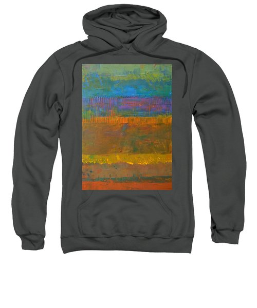 Sweatshirt featuring the painting Color Collage One by Michelle Calkins