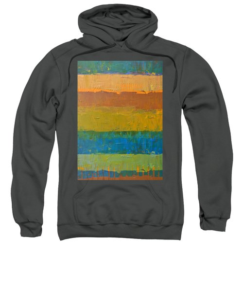 Sweatshirt featuring the painting Color Collage Three by Michelle Calkins