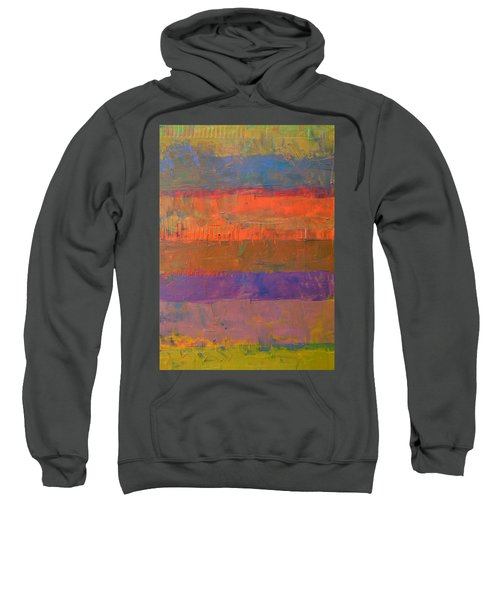 Sweatshirt featuring the painting Color Collage Two by Michelle Calkins
