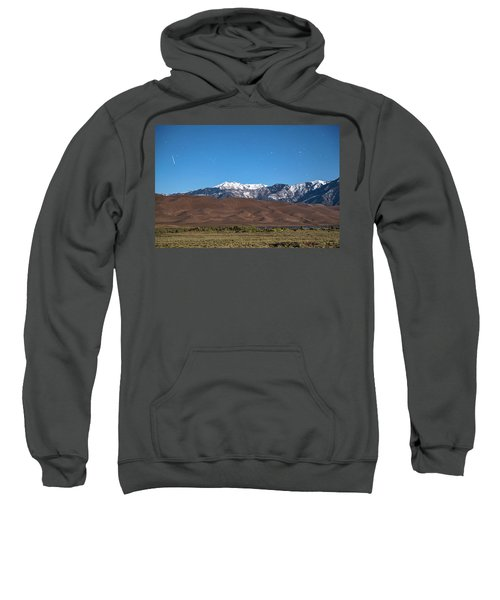 Colorado Great Sand Dunes With Falling Star Sweatshirt by James BO Insogna