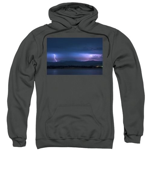 Sweatshirt featuring the photograph Colorado Rocky Mountain Foothills Storm by James BO Insogna