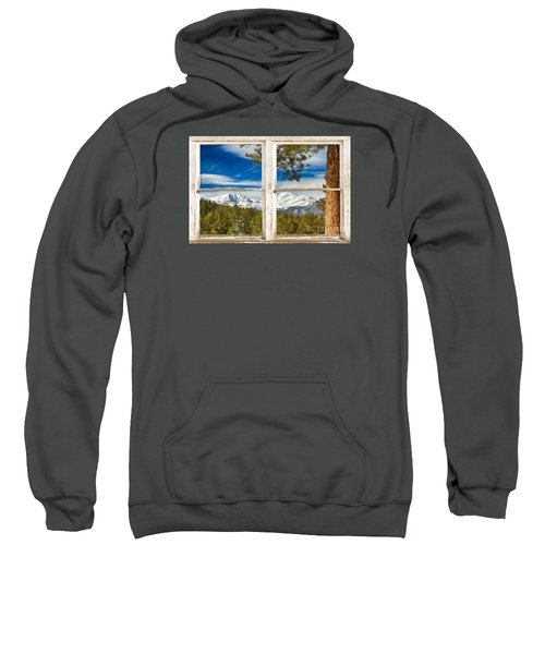Colorado Rocky Mountain Rustic Window View Sweatshirt by James BO  Insogna