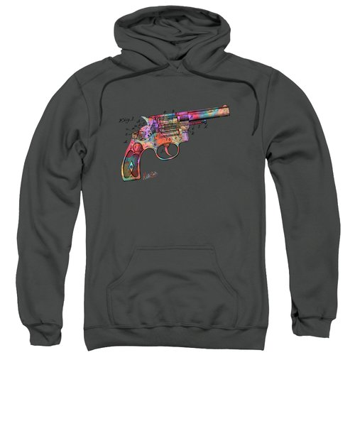Colorful 1896 Wesson Revolver Patent Sweatshirt
