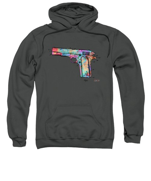 Colorful 1911 Colt 45 Browning Firearm Patent Minimal Sweatshirt