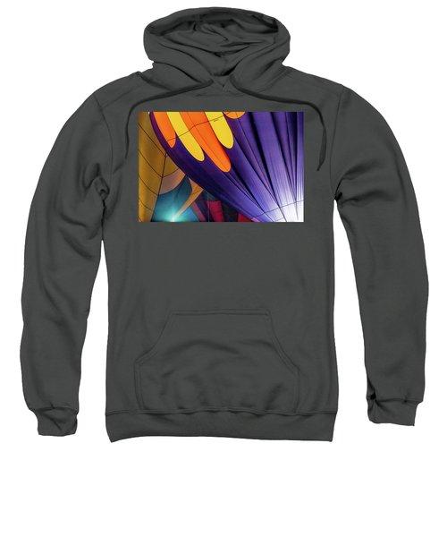 Colorful Abstract Hot Air Balloons Sweatshirt