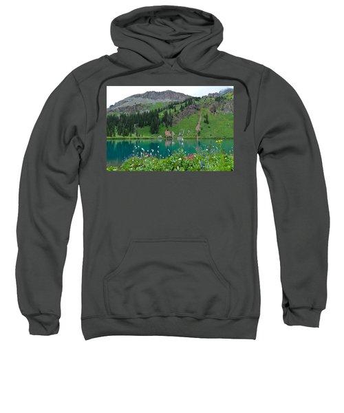 Colorful Blue Lakes Landscape Sweatshirt