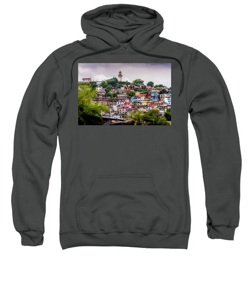 Colorful Houses On The Hill Sweatshirt