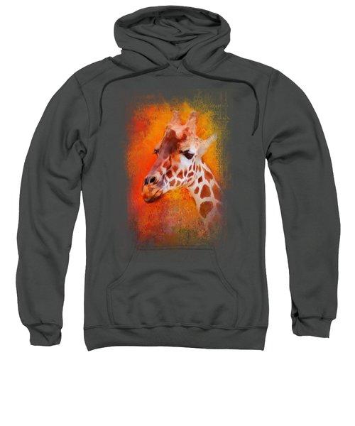 Colorful Expressions Giraffe Sweatshirt by Jai Johnson