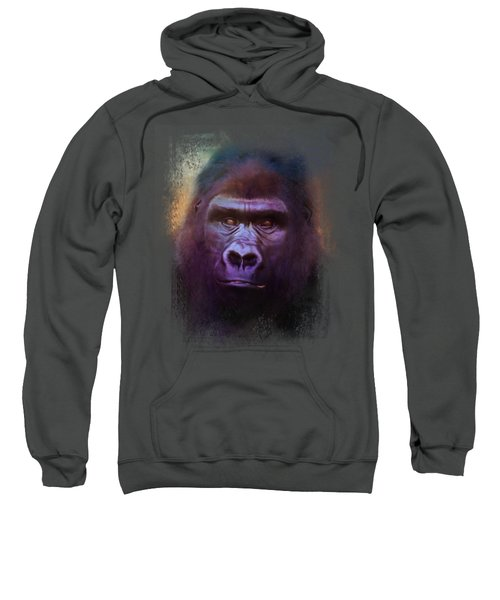 Colorful Expressions Gorilla Sweatshirt by Jai Johnson