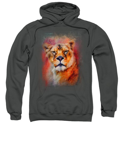 Colorful Expressions Lioness Sweatshirt by Jai Johnson