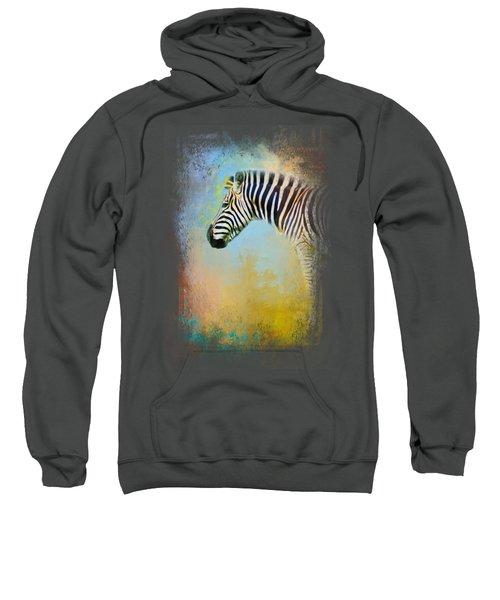 Colorful Expressions Zebra Sweatshirt by Jai Johnson