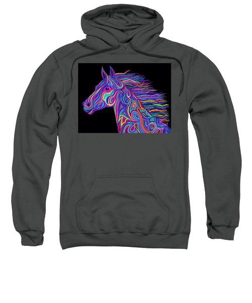 Colorful Rainbow Stallion  Sweatshirt